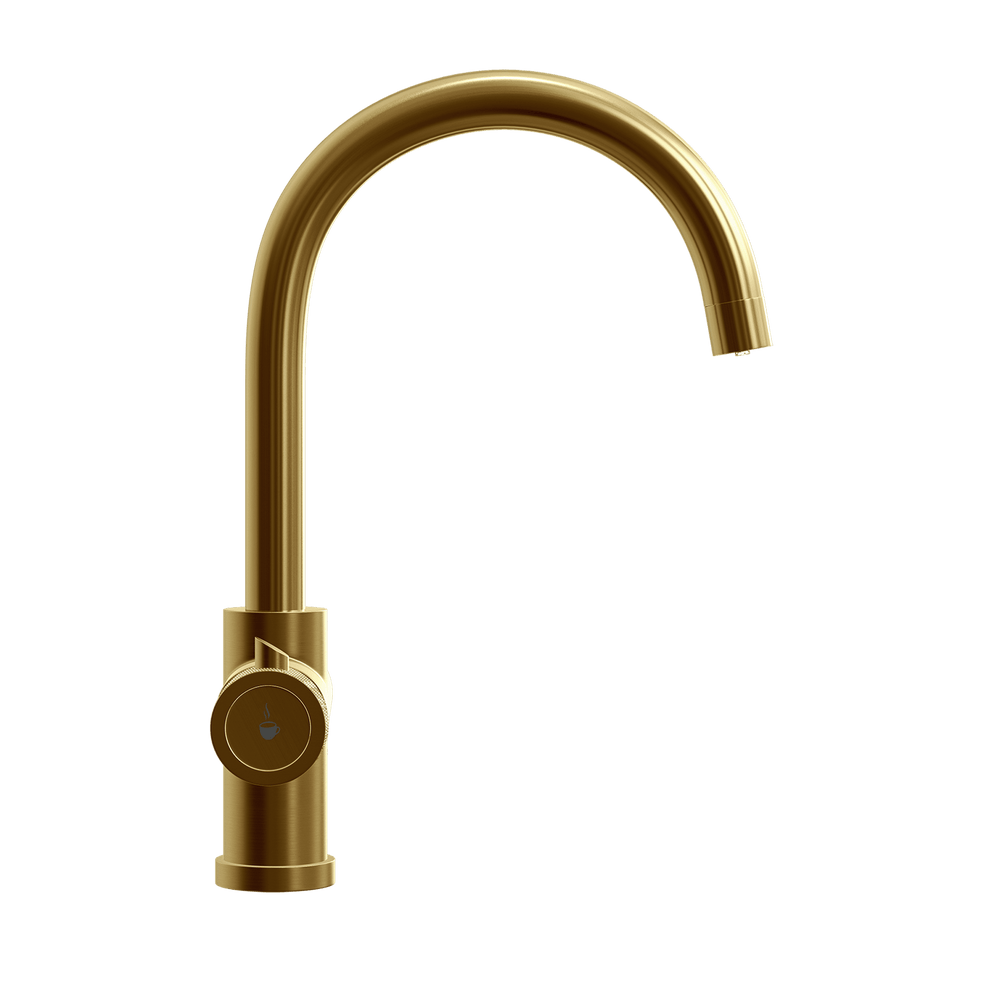 Fohën Focetti | Brushed Gold | 3-in-1 Instant Boiling Water Kitchen Tap