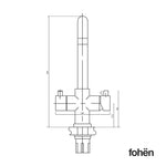 Fohen CK03X Fohën Flagro | Matt Black Boiling Water Kitchen Tap