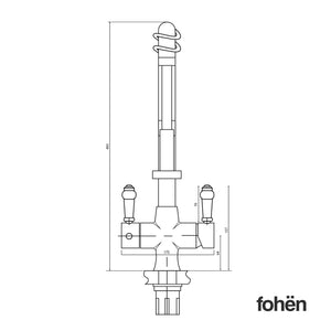 Fohen FK02G Fohën Flare Chrome Boiling Water Tap | Flexible Spout