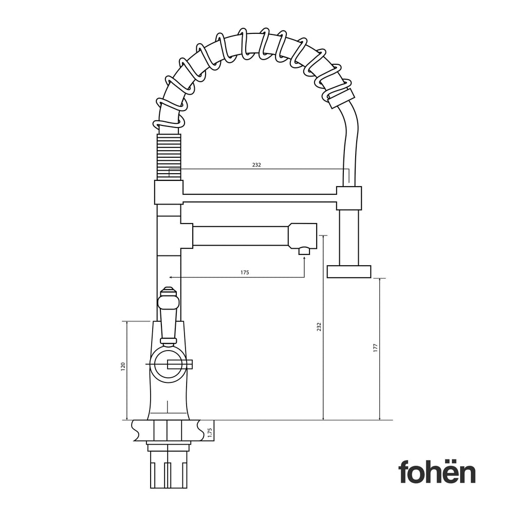 Fohën Flare | Matt Black Instant Boiling Water Tap | Handheld Flexible Spout