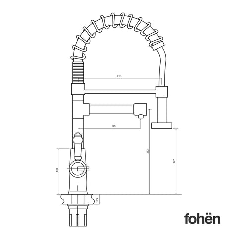 Fohen FK02A Fohën Flare Chrome Boiling Water Tap | Flexible Spout