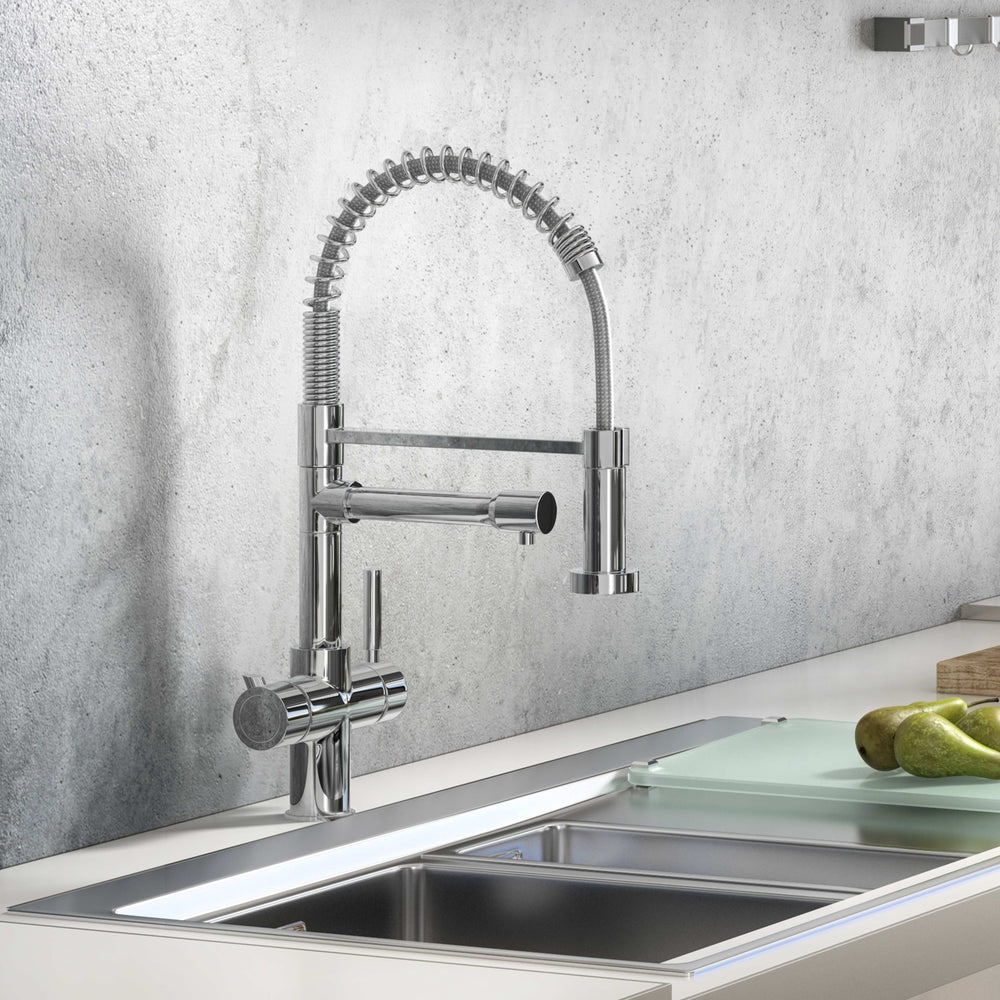 Fohen FK01A Fohën Flex Polished Chrome Boiling Water Tap | Flexible Spout