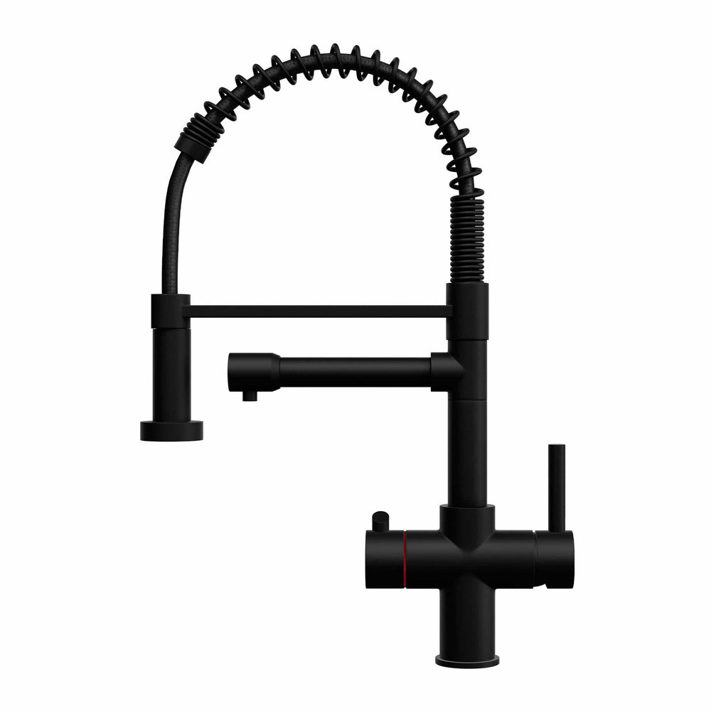 Fohën Flex | Matt Black | 3-in-1 Instant Boiling Water Tap | Handheld Flexible Spout