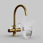 Fohën Fantale | Brushed Gold | Victorian 3-in-1 Instant Boiling Water Tap