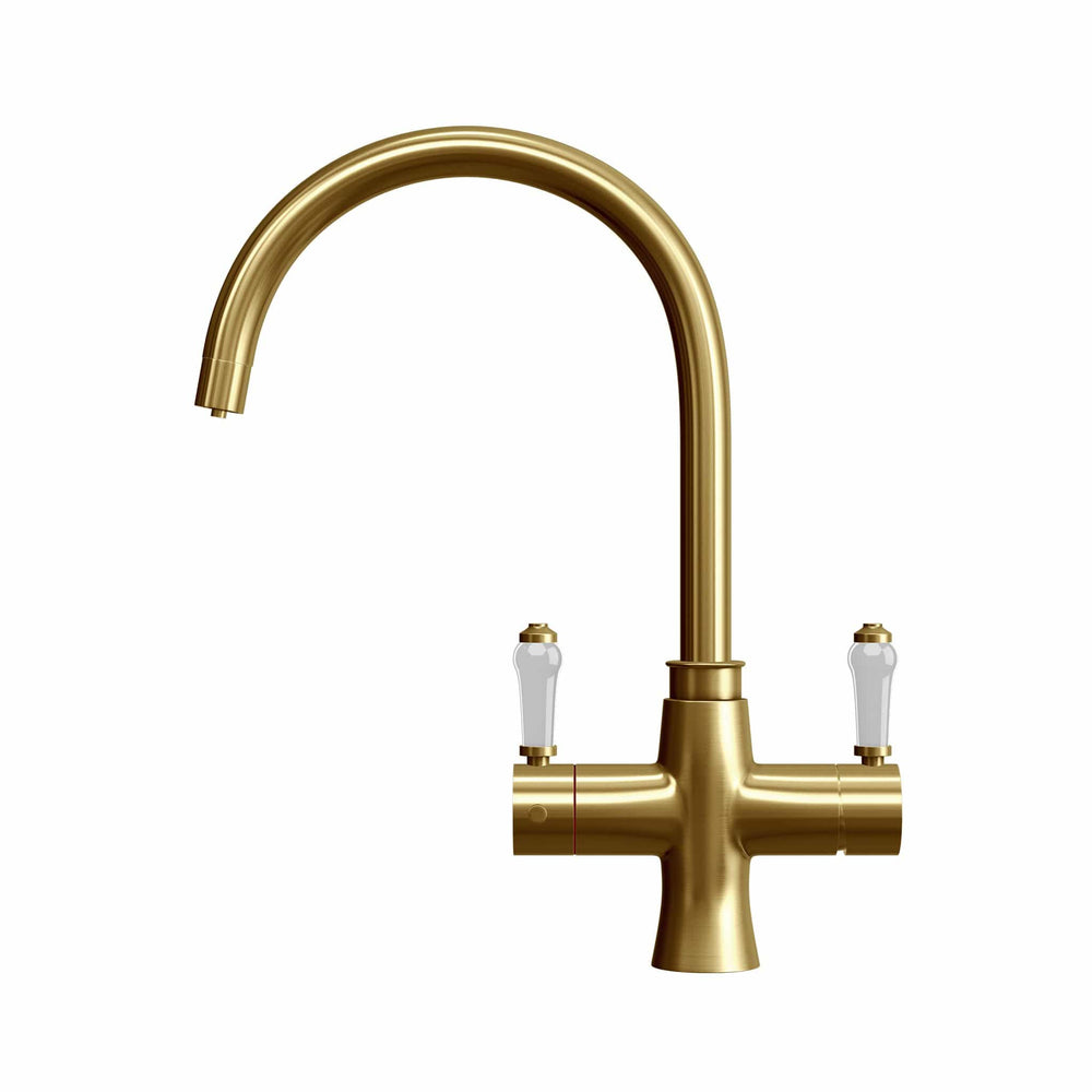 Load image into Gallery viewer, Fohen TK01G Fohën Fantale | Brushed Gold Instant Boiling Water Taps