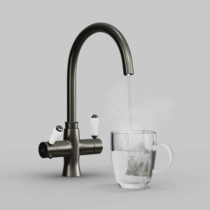 Load image into Gallery viewer, Fohen TK01M Fohën Fantale | Brushed Gunmetal Grey Instant Boiling Water Tap