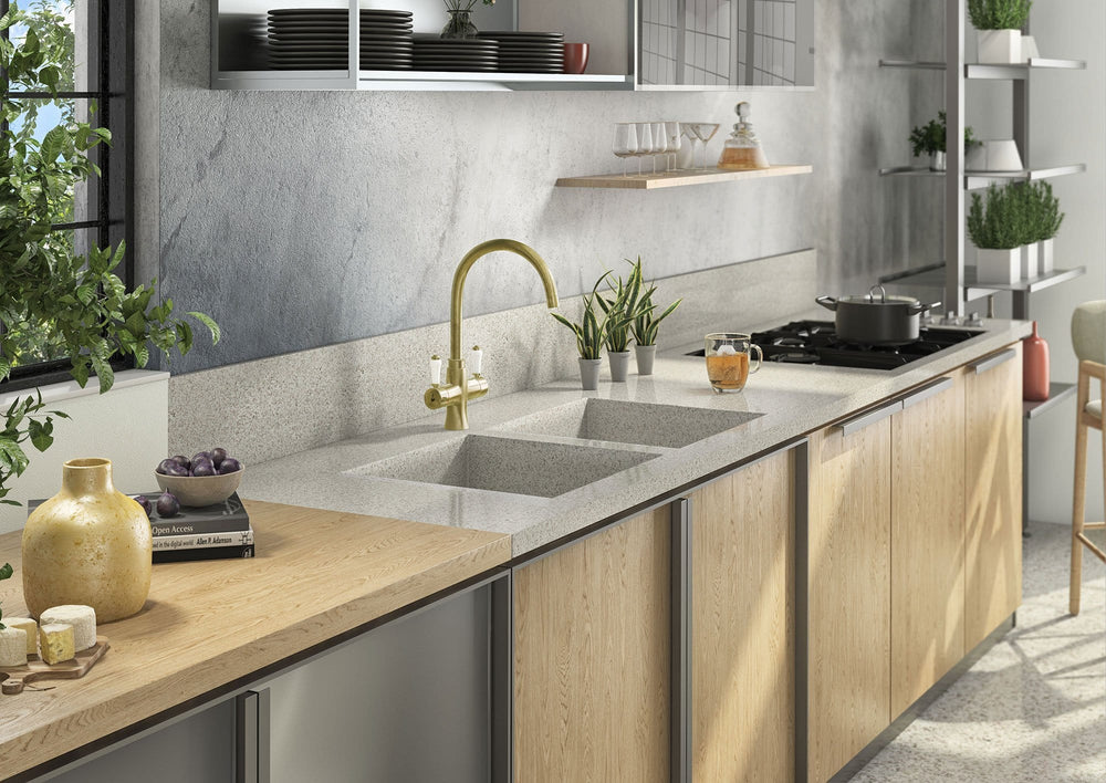 Fohën Fantale | Polished Brass | 3-in-1 Instant Boiling Water Tap