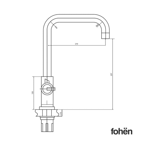 Fohen CK01B Fohën Fahrenheit | Polished Bronze Instant Boiling Water Tap