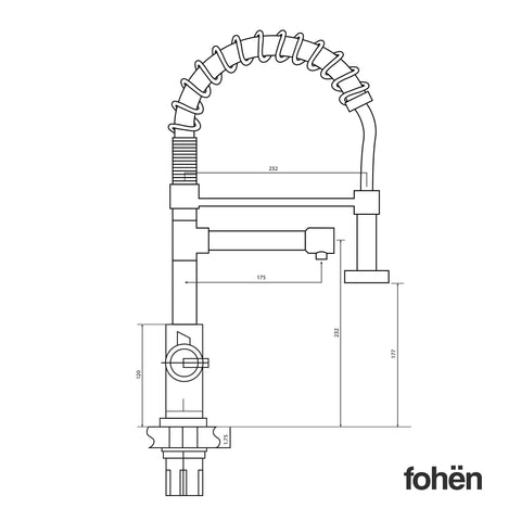 Fohen FK01X Fohën Flex | Matt Black Boiling Water Tap | Flexible Spout