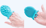 Teeny Mitten Scalp Brush Gentle Ultra Soft Silicone Baby Bath & Shower: 100% BPA-Free, Hypoallergenic, Eco-Friendly