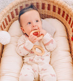 "Made in USA - Organic Maple Wood Teether Ring 3"", Treated with Organic Vegan Oil"