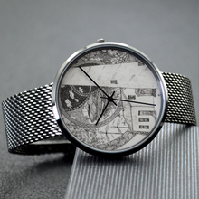 Load image into Gallery viewer, Quartz Watch Pointe of Barques Lighthouse | With Casual Stainless Steel Band