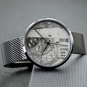 Quartz Watch Pointe of Barques Lighthouse | With Casual Stainless Steel Band