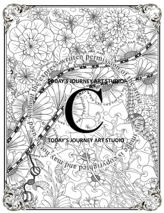 Old Lace - Zentangle® Inspired Instant Digital Download