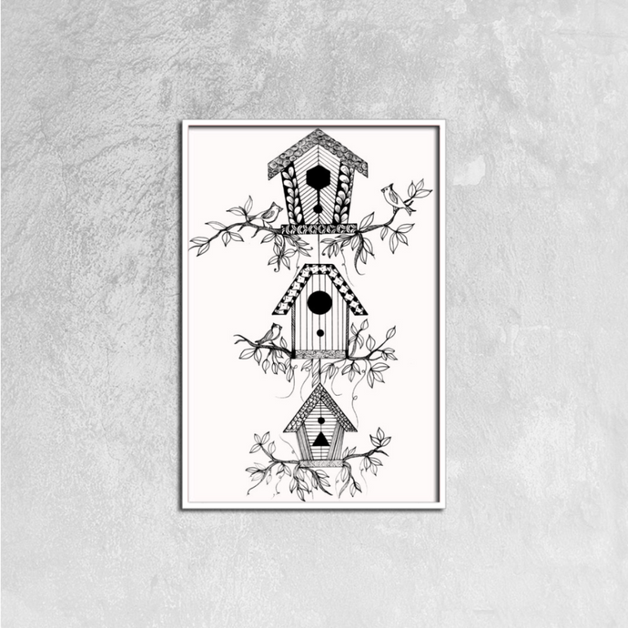 Bird Houses | Canvas Prints Wall Art Ready to Hang, 16ⅹ24 inch