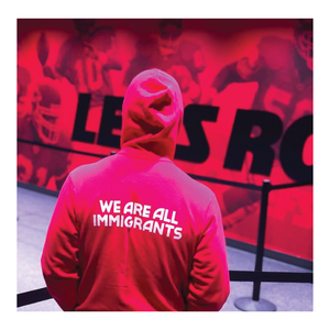"WE ARE ALL DANTE HALL – KC RED ""We Are All Immigrants"" HOODIE + TEE"