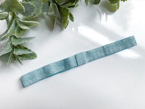 Light Blue Shimmer Forever Headband