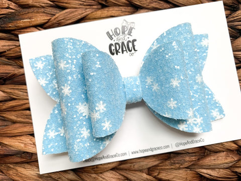Blue Snowflakes 5 Inch