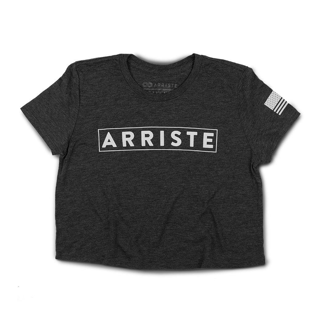 Edge Flowy Crop Top - Charcoal - Arriste