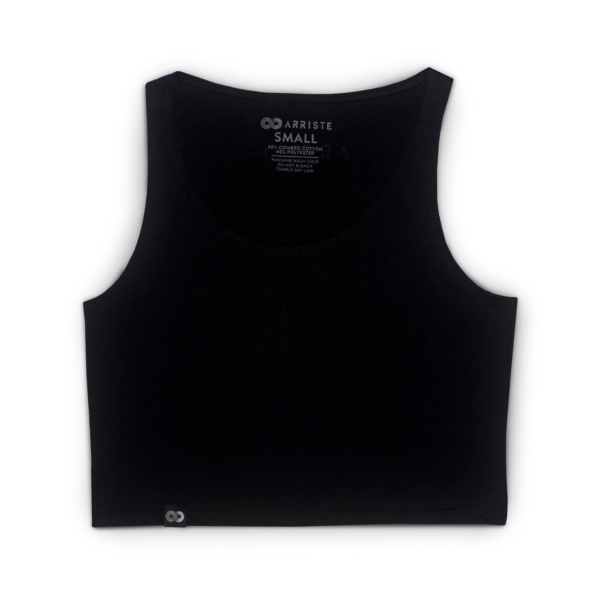 Fundamentals Cropped Tank - Black - Arriste