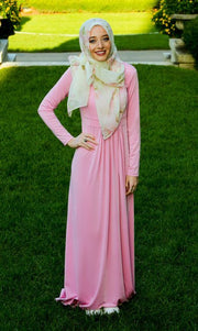 PINK SOLIDIFY - MAXI DRESS - www.abayaaddict.com