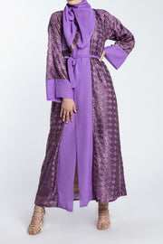 PURPLE OPEN Textured Abaya - www.abayaaddict.com