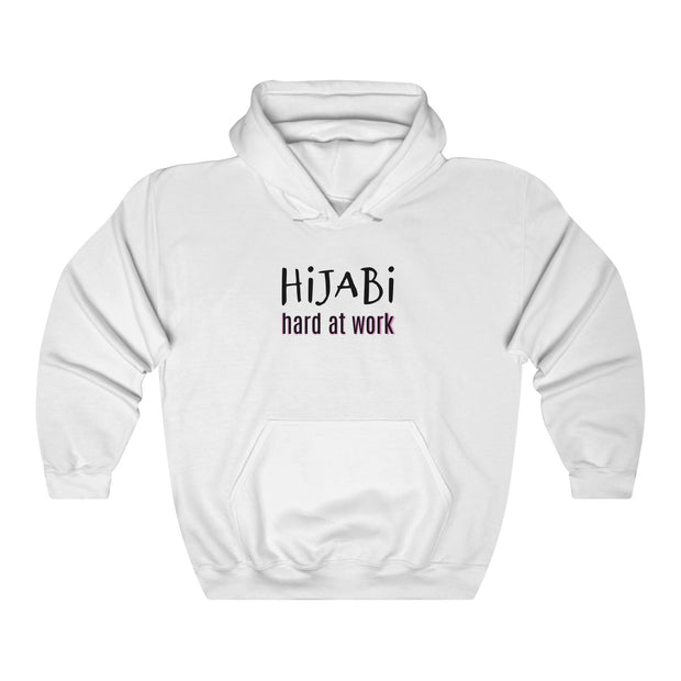 Hijabi hard at work Unisex Heavy Blend™ Hooded Sweatshirt - www.abayaaddict.com