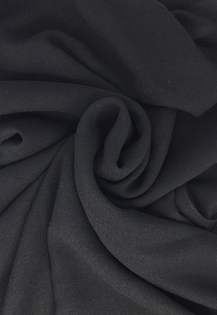 Midnight Black Linen Hijab