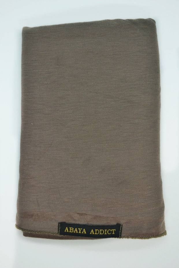 Medium Brown Jersey Hijab - www.abayaaddict.com