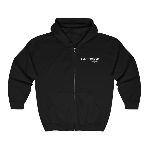 Self-Funded Hijabi -  Unisex Heavy Blend™ Full Zip Hooded Sweatshirt - www.abayaaddict.com