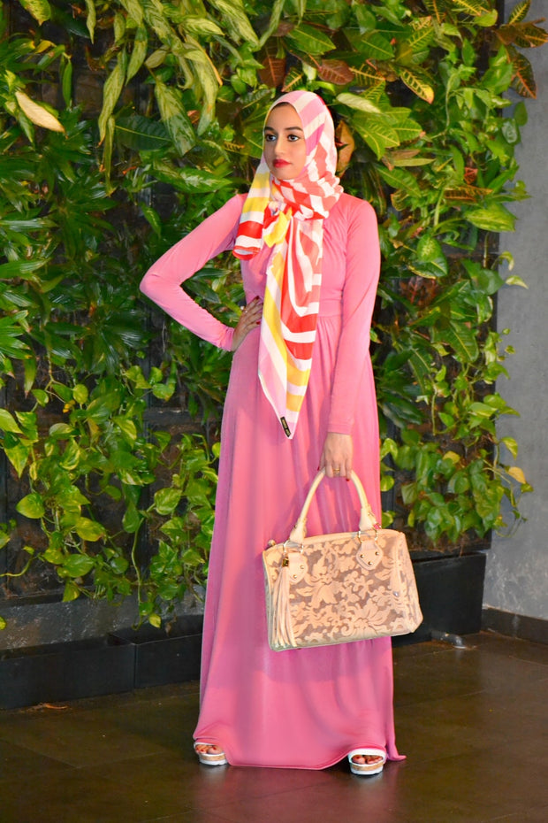 PINK SOLIDIFY - MAXI DRESS