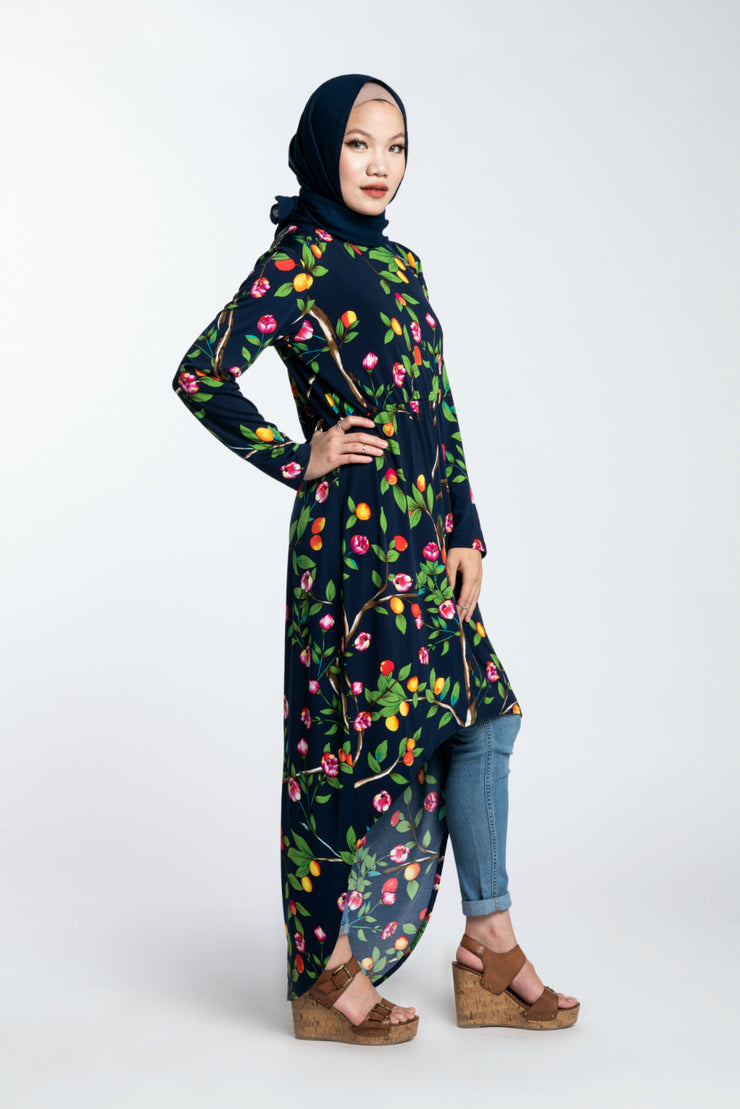 COMFORT HI-LOW MIDI DRESS- ORCHARD - www.abayaaddict.com