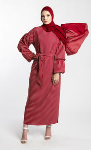 JET SETTER MAXI DRESS- RED - www.abayaaddict.com