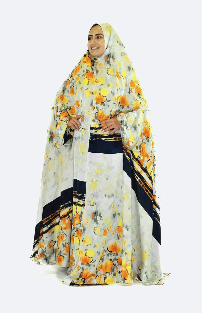 YELLOW POPPY PRAYER COVER - www.abayaaddict.com
