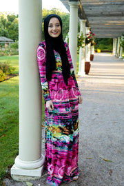 PINK SUNSET SOLIDIFY - JERSEY MAXI
