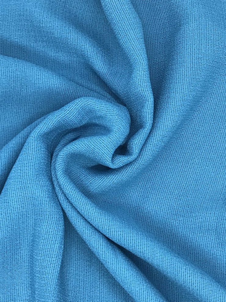 Turquoise Linen Hijab