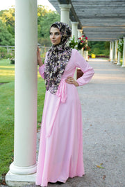 SOFT PINK ELEGANCE CHIFFON - MAXI DRESS