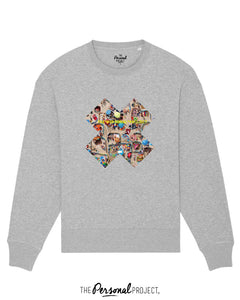 THE CROWDED BEACH CREW GREY (exclu web)