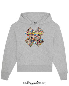 THE CROWDED BEACH GREY HOODIE  (exclu web)