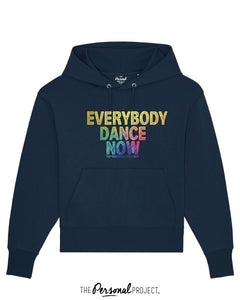 EVERYBODY DANCE NOW NAVY HOODIE  (exclu web)