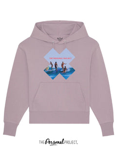 THE GIRLS SURF LILA HOODIE  (exclu web)