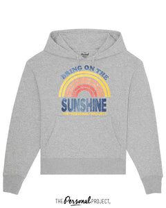 BRING ON THE SUNSHINE GREY HOODIE  (exclu web)
