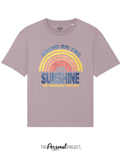 BRING ON THE SUNSHINE TEE-SHIRT LILA (exclu web)