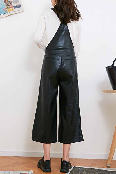 Leather Look Overalls