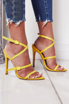 Ribbon Buckle Heeled Sandals