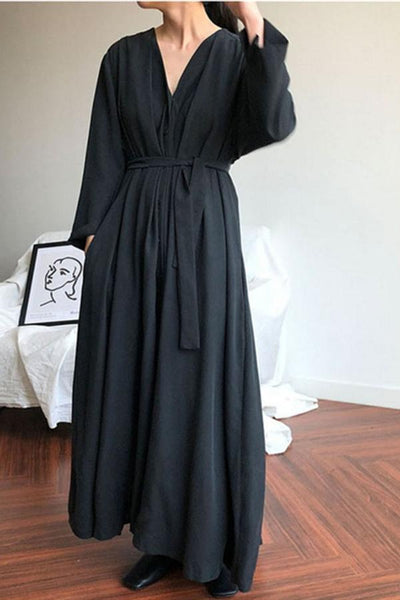 Kimono Style Long Sleeve Maxi Dress