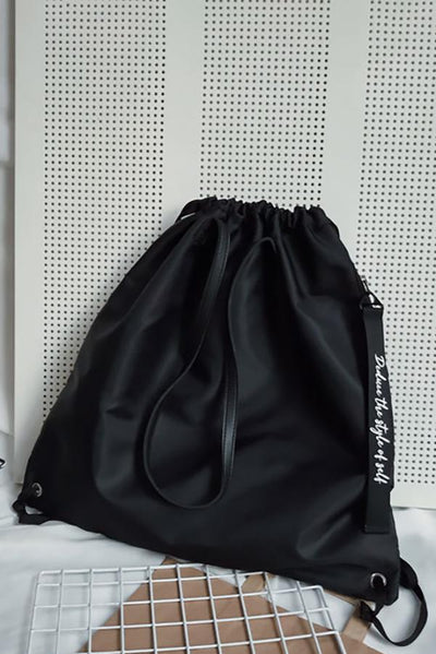 Drawstring Nylon Waterproof Tote Bag