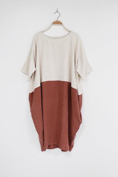 Oversized Tshirt Dress in Colour Block