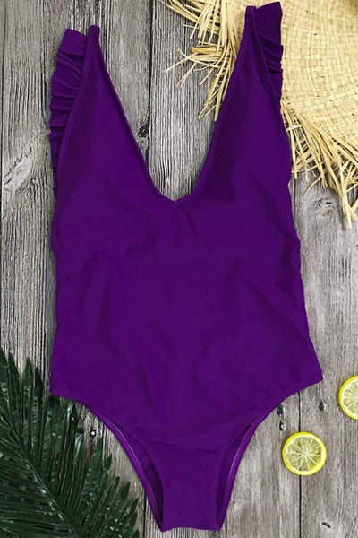 Strap Back Frilly Swimsuit