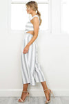 Striped Capris Jumpsuit